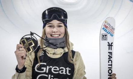 L'espectacular or de Kelly Sildaru al Superpipe del X Games d'Aspen en esquí