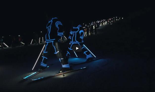 Així va ser l'e-tron Ski Night de Baqueira