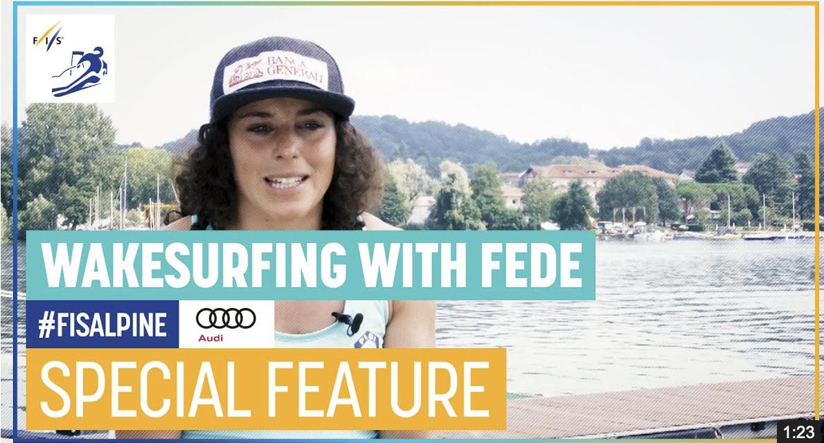 Una jornada de wakesurfing amb Federica Brignone