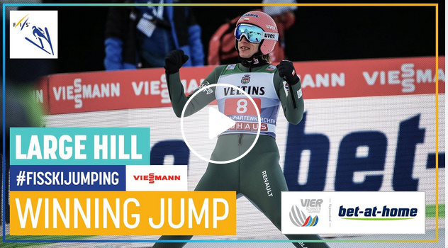 Dawid Kubacki bat el rècord al trampolí de Garmisch, arribant als 144.0 metres