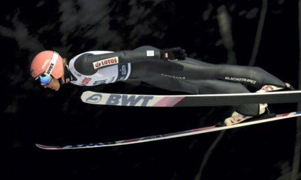 El vol guanyador de Dawid Kubacki al 4 Trampolins de Garmisch