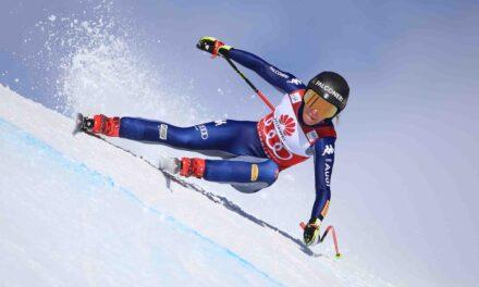 Sofia Goggia vola al descens de Crans Montana (Suïssa)