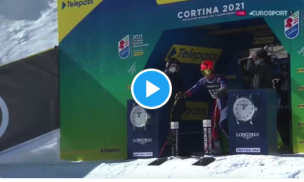 El SG d'Albert Ortega a la combinada dels Mundials de Cortina