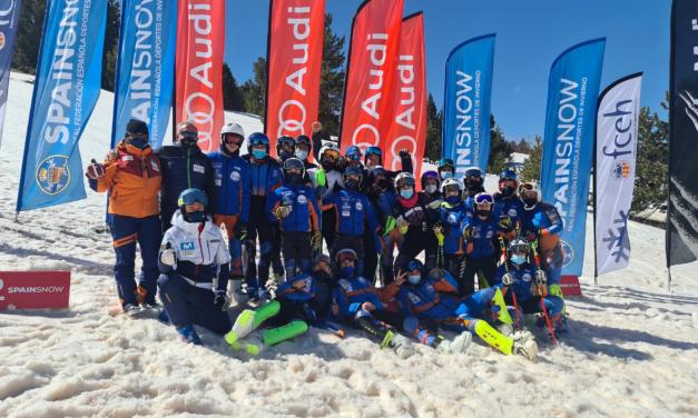 El Club Esquí Llívia (LLIVI) guanyador de la Copa Espanya Audi U16 / 14 d'esquí alpí a La Molina